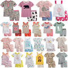 "44styles Vaenait Bab​y Toddler Kid Sleepwear Top+Shorts 2T-7T ""Summer Girls"""