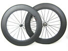 25mm width 88mm clincher carbon fiber bicycle wheels straight pull hub