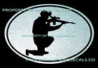 VRS OVAL Military Sniper Rifle Scope American Hero CAR DECAL METAL STICKER