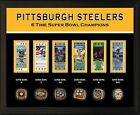 "8x10"" PHOTO PLAQUE - PITTSBURGH STEELERS 6 Super Bowl Championship Rings Tickets"