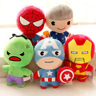 Q plush toy The Avengers Iron Man Spiderman Captain America birthday gift 1pc