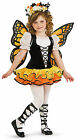 Cute Monarch Butterfly Child Girls Fancy Dress Up Costume with Wings