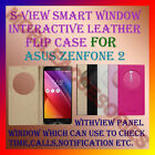 "S-VIEW SMART ""WORKING SENOR"" WINDOW LEATHER FLIP CASE for ASUS ZENFONE 2 COVER"