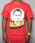New Mens The Big Bang Theory T-Shirt BAZINGA! Sheldon Red S M L XL XXL