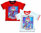Boys Power Rangers Megaforce Action Print Cotton T-Shirt Top Tee 2 to 8 Yrs NEW
