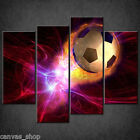 FOOTBALL ON FIRE SOCCER BURNING CASCADE CANVAS PRINT ART PICTURE READY TO HANG