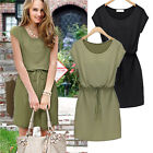 Sexy Women Summer Casual Short Sleeve Party Evening Cocktail Short Loose Dress