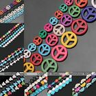 Howlite Turquoise Butterfly Side Ways Cross Spacer Charms Stone Loose Beads DIY