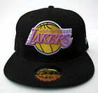 LA Lakers Black All Sizes Fitted Cap Hat by New Era
