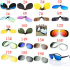 19 Colors Men/Women Polarized UV400 Lens Clip-on Flip-up Myopia SunGlasses HAT