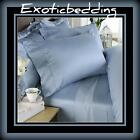 1500 Thread Egyptian Cotton sheet Set - Blue Plain