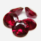 Round 9mm Synthetic Red Ruby #5 Loose Gemstone Lot