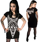 Women's Kreepsville 666 White Pentagram Supernatural Tunic Dress Gothic Horror