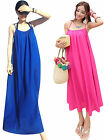 Women Summer Boho Long Maxi Chiffon Evening Party Dress Sleeveless Beach Dress
