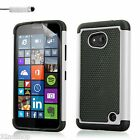 Dual Layer Shockproof Case for Microsoft Lumia 640 / 640XL + Screen Protector