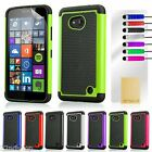 Dual Layer Shockproof Case for Microsoft Lumia 640 / 640XL + Screen...