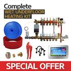 Water Underfloor Heating -Single Room Kit 15m2 with PE-X Pipe Standard Output