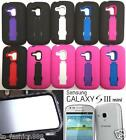BUILT IN SCREEN PROTECTOR Faceplate Phone Case FOR Samsung Galaxy S3 Mini