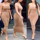 Women Sexy Strapless Cocktail Evening Party Pencil Bodycon Dress Clubwear Brown