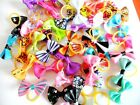 20X 9 Colors for Choice Dog Hair Bows Puppy Cat Pet Grooming Hair Accessories