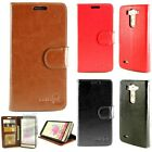 For LG G3 Vigor Leather Case - Flip Folio Wallet Pouch Cover + Screen Protector