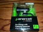 ENERCELL 1A 12V DC CAR CHARGER iPhone 5 6 Plus iPod touch APPLE LIGHTNING 5VDC