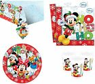 MICKEY MOUSE CHRISTMAS BIRTHDAY PARTY TABLEWARE NAPKINS PLATES CUPS TABLECOVER