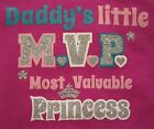1st First Daddy's Little MVP Father's Day & 4th of July Princess Onesie NB-24