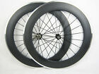 23mm width 80mm clincher full carbon bicycle wheels,cycling wheels alloy brake