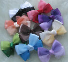 New! fancy 2tone stain ribbon bows flowers DIY craft wedding appliques Upick E48