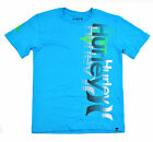 Hurley Big Boys S/S Baby Cyan W/Lime Top Size 10/12 14/16 18/20 $18