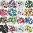 Hot 12Colors Diy Facets Resin Rhinestone Gems Flat Back Crystal beads 4.5.8mm