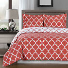 Meridian Coral/White 100% Egyptian Cotton Duvet Cover Set