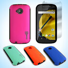 For Motorola Moto E (2nd Generation 2015) Hard Hybrid Slim Phone Case + Screen