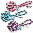 GRRIGGLES TOP DOG ROPE TOY Poly/Cotton Monkey Knot Tug Toys Fetch Chew 2 Sizes