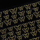 3D Gold Decal Stickers Nail Art Decoration Crown Butterfly Glitter Tips Manicure