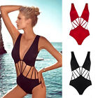 Sexy Women's Hollow Out Bandage One-piece Monokini Bikini Set Swimsuit Swimwear