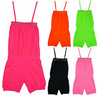 Girls Gem Stud Neon Colours Strappy Shorts Summer Playsuit 2 to 14 Years NEW