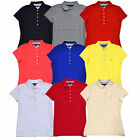 Tommy Hilfiger Womens Polo Shirts Classic Fit 5 Button Placket Mesh Knit Th Logo