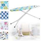 Large Ironing Board Light Weight 8 Step Adjustable Height With Wide Iron Rack Nw