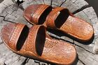 Внешний вид - New Brown Rubber Hawaiian Hawaii Jesus Sandals Unisex Classics Pali Slippers