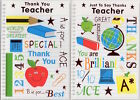 Thank You Teacher Card - End of Term Thank you Card Various Designs