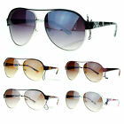 SA106 Luxury Unisex Flat Top Metal Turbo Racer Aviator Sunglasses