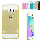 Ultra Thin Slim Bling Glitter Soft TPU Case Cover for Samsung Galaxy S6 edge DB7
