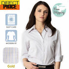 Loose Fit Ladies Blouse Tops  Womens Clothing Shirt Plus Size 3/4  Sleeve