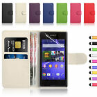 Flip Book Wallet Leather Case Cover For Sony Xperia E3 Free Screen Protector