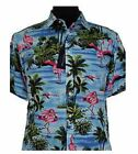 Subterfuge Cotton Sky Multi Color Hawaiin Shirt (172) in Size 2XL to 8XL