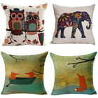 Cotton Linen Home Decor Sofa Throw Pillow Cases Pillowcases Car Cushion Cover