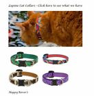 "Lupine Lifetime Cat Safety Breakaway Collars  - 1/2 x 8-12"" - PICK PATTERN"