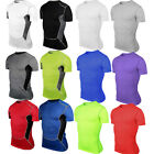 Men Compression Base Layer Skin Cycling Running Athletic T Shirt Tights Tee Tops